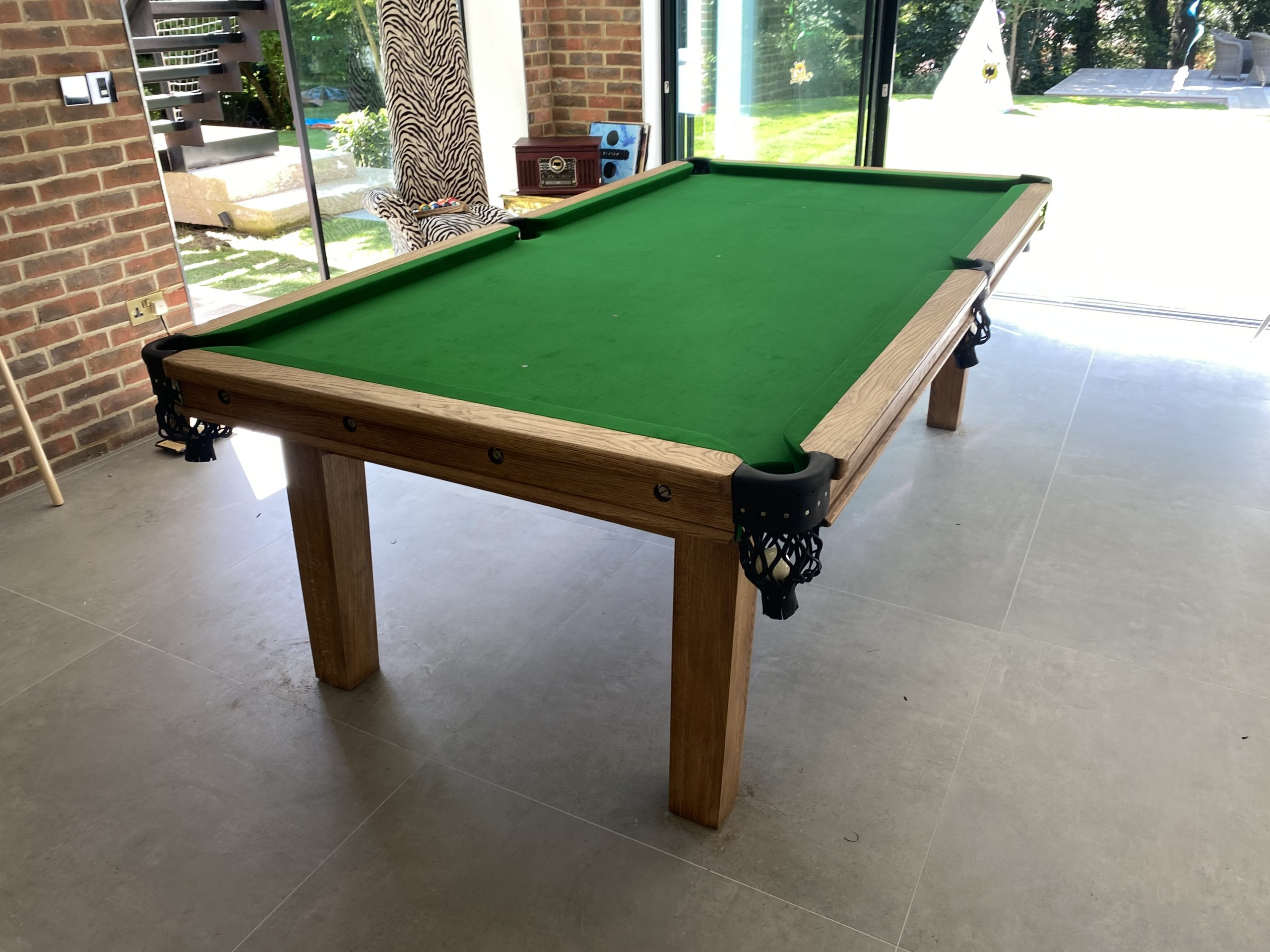 8ft Bespoke Oak Snooker Diner