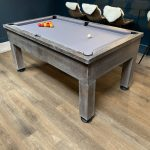 8ft Bespoke Oak Pool Table