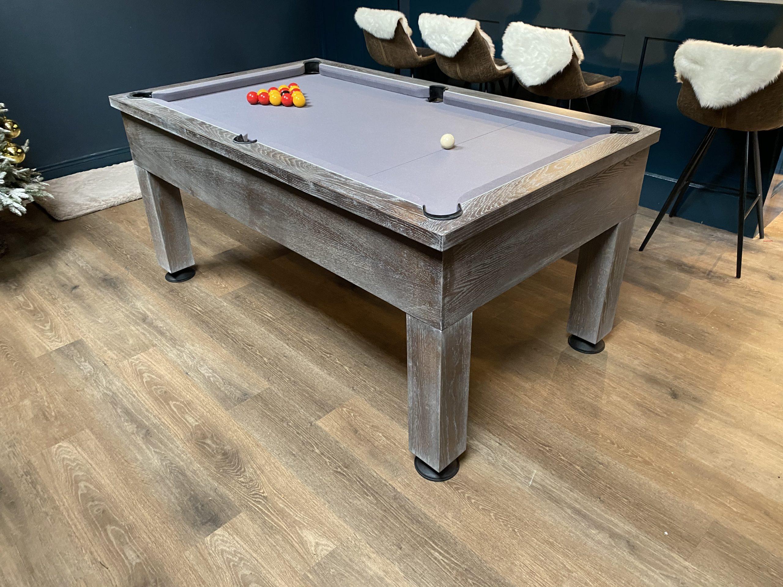 8ft Bespoke Oak Pool Table