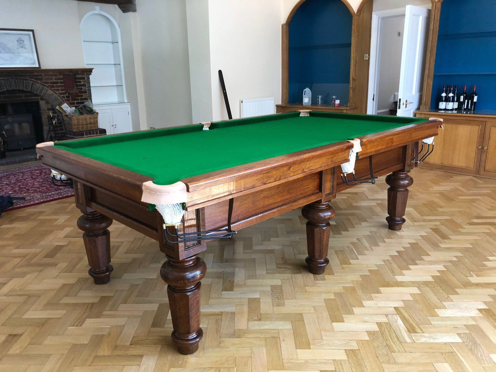 8ft Bespoke Oak Snooker Table