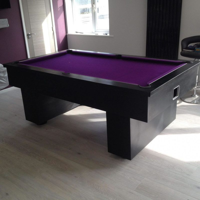 black pool table